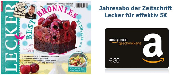 Kochzeitschrift Lecker