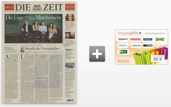 """Halbjahresabo der Zeitung """"Die Zeit"""""""