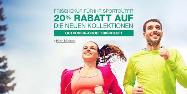 Amazon Sportswear Aktion