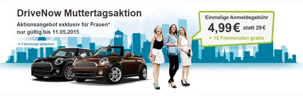DriveNow Muttertagsaktion