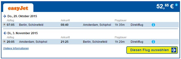 CheapTickets Berlin-Amsterdam