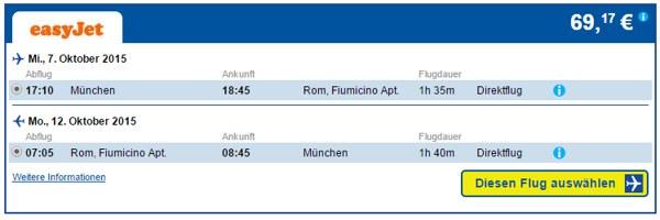 CheapTickets München-Rom