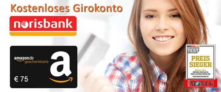 Norisbank Girokonto + Amazon Gutschein