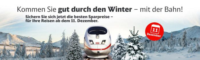 Bahn Sparpreise zu Weihnachten und Silvester