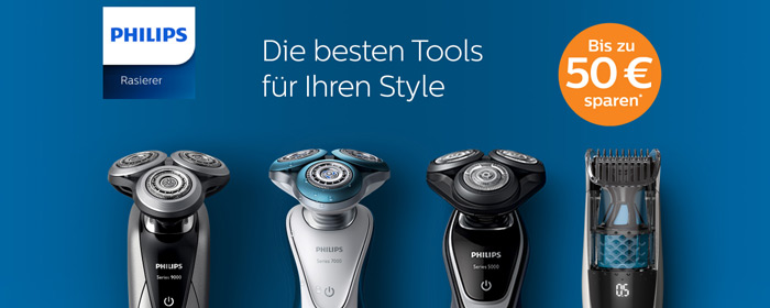 Philips Rasierer Cashback Aktion 2016