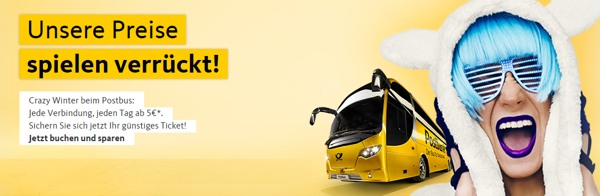 Postbus Crazy Winter Aktion