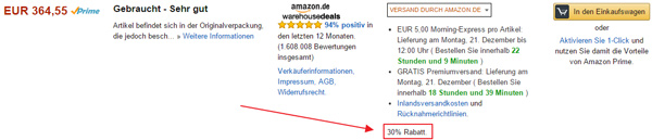 Amazon Warehouse Deals Schlussverkauf