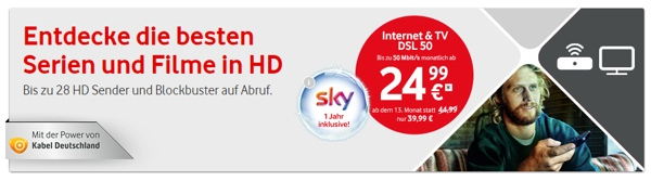 Vodafone Internet & TV 50