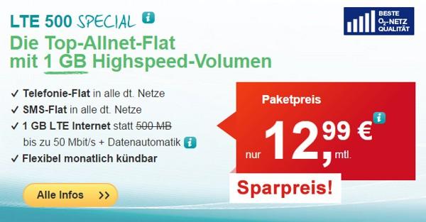 HelloMobil LTE 500 Special Tarif