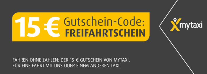 15 mytaxi gutschein f r alle kunden kostenlose taxi fahrten m glich. Black Bedroom Furniture Sets. Home Design Ideas