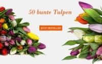 50 bunte Tulpen
