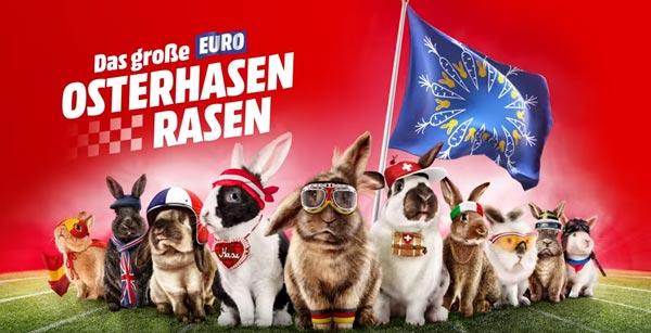 Media Markt EURO Osterhasen Rasen 2016