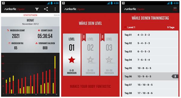 Runtastic Kniebeugen App