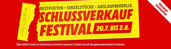 Media Markt Schlussverkauf-Festival
