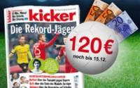 Kicker Jahresabo Bargeld Prämie
