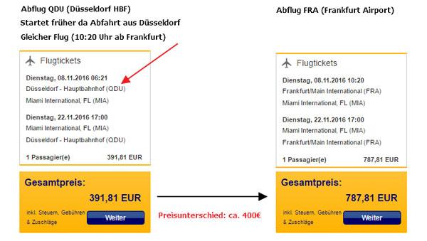 Lufthansa Trick Beispiel