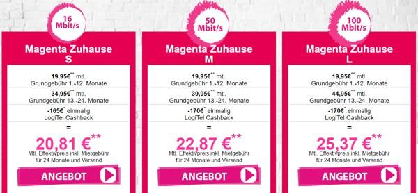 Telekom Magenta Zuhause S, M oder L