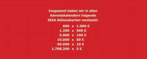 ikea adventskalender 2018 mit mind 10 aktionskarten f r 12 95. Black Bedroom Furniture Sets. Home Design Ideas