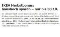 IKEA Herbstbonus Aktion