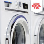 Langes Wäsche Wochenende bei Media Markt: Bis zu 500€ Rabatt auf Waschmaschinen, Trockner & Waschtrockner