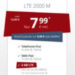 PremiumSIM LTE Tarife: All-Net Flatrate + SMS-Flat & 2 GB Internet Flat für 7,99€/Monat!