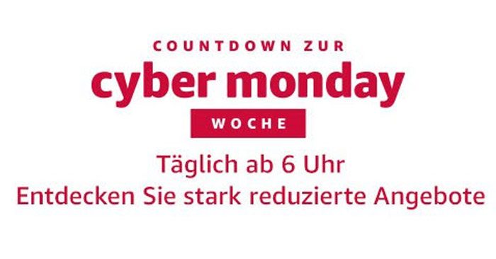 Amazon Cyber Monday Countdown Woche 2017