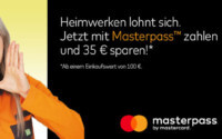 Globus Baumarkt Masterpass Aktion