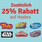 myToys: 25% Rabatt auf Hasbro Artikel (Nerf, Play-Doh Knete uvm.)