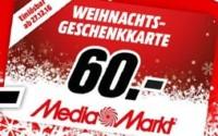 Media Markt Weihnachts-Geschenkkarte
