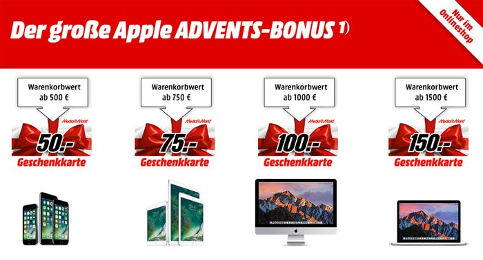 Media Markt Apple Advents-Bonus