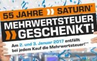 """Saturn """"Mehrwertsteuer geschenkt"""" Aktion 2017"""