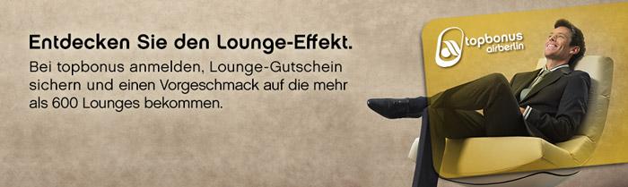 AirBerlin Topbonus Lounge Gutschein