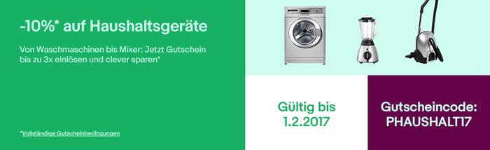 10 gutschein auf haushaltsger te z b waschmaschinen bei ebay. Black Bedroom Furniture Sets. Home Design Ideas