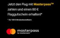 Lastminute.de Flug mit Masterpass zahlen