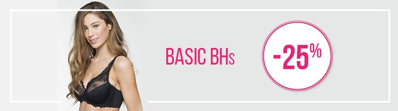 25% Rabatt auf Basic BHs