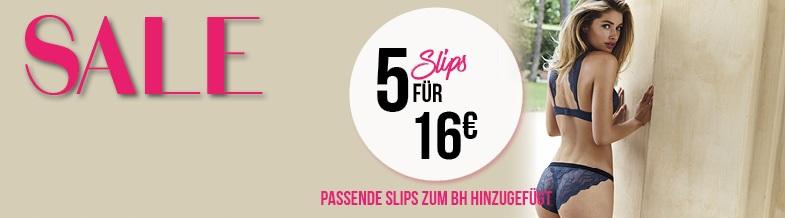 Hunkemöller 5 Slips für 16€ Aktion
