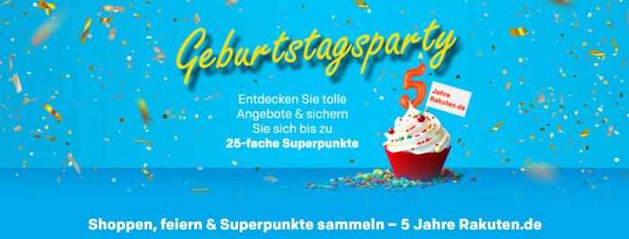 Rakuten Geburtstagsparty: 25-fache Superpunkte