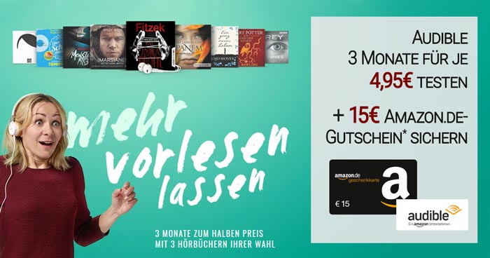 Audible Aktion Amazon Gutschein
