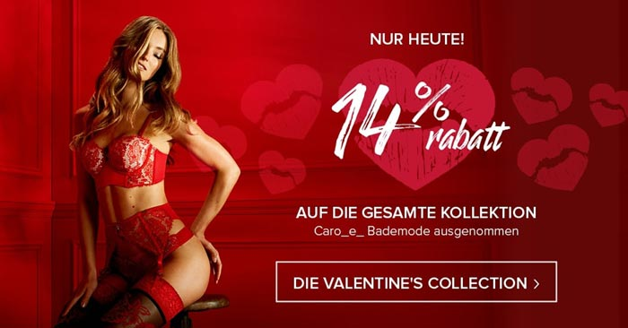 Hunkemöller Valentinstags-Aktion