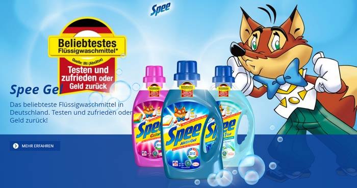 Spee Waschmittel kostenlos testen