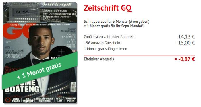 Zeitschrift GQ