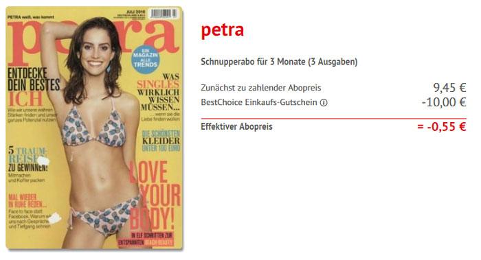 Zeitschrift Petra kostenlos