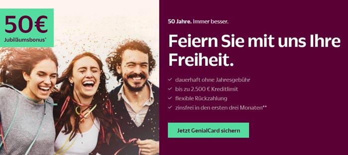 Hanseatic Genialcard Kreditkarte Startguthaben