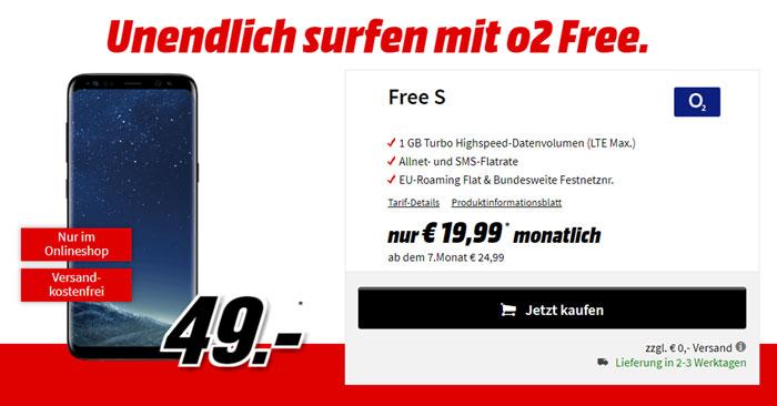 o2 Free S Tarif Samsung Galaxy S8