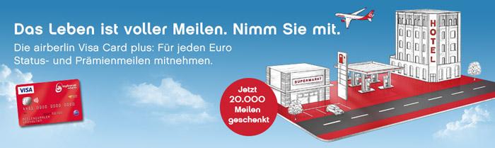 AirBerlin Visa Plus Kreditkarte