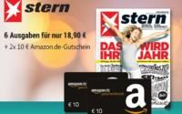 6x Ausgaben Stern + 20€ Amazon Gutschein