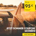 95€ Europcar Gutschein ab 400€ / 50€ Gutschein ab 250€ / 25€ Gutschein ab 125€