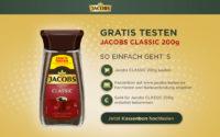 Jacobs Classic Instant-Kaffee gratis testen