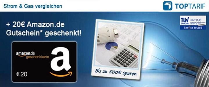 Toptarif 20€ Amazon Gutschein