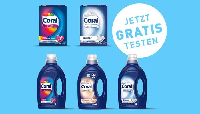 Coral Waschmittel gratis testen